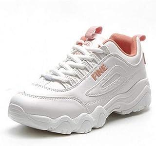 Primavera otoño New ins Super Fire Ulzzang Zapatos Blancos Gruesos Mujer Harajuku Movimiento de Ocio estudiantil Zapatillas de Deporte Zapatos de Mujer