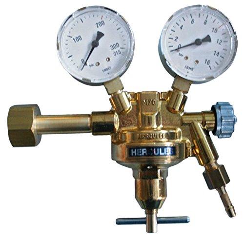 HERCULES Druckminderer Stickstoff Druckregler MIG MAG WIG Schutzgas Schweißen, Typ:0 - 20 bar
