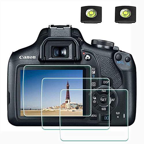 EOS 1300D 2000D Protector de Pantalla para cámara Canon EOS 1300D 2000D y réflex Digitales,ULBTER 0,3 mm dureza 9H Vidrio Templado antiarañazos antihuellas antiburbujas Antipolvo –[2+ 3 Unidades]