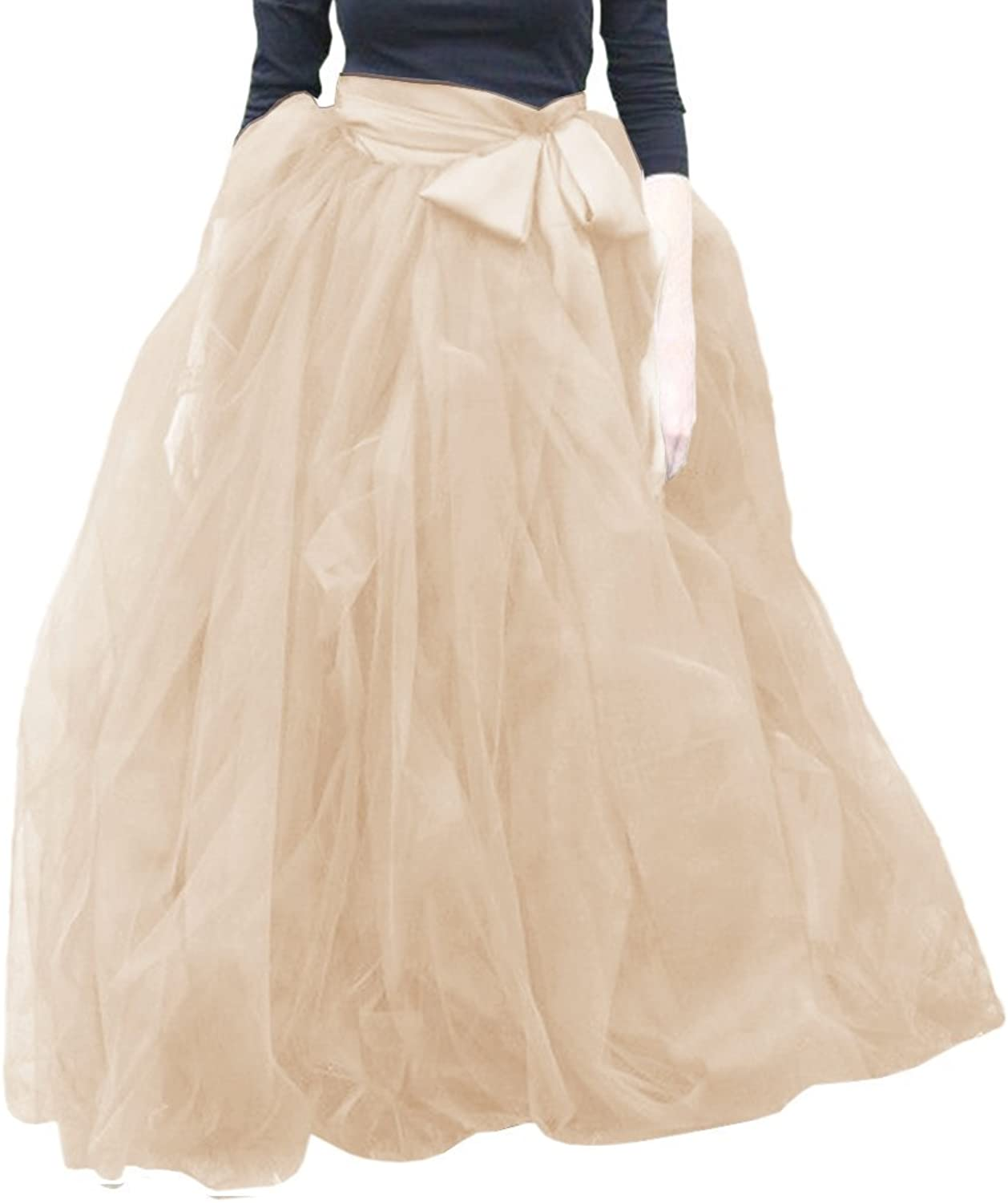 My Super Star Women's Skirts Tulle Dresses Wedding Party Strips Ruffles Tutu Ball Gown Skirts
