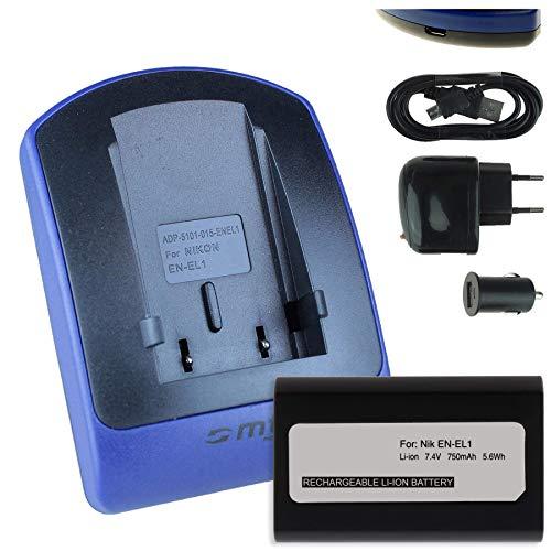 Baterìa + Cargador (USB/Coche/Corriente) para EN-EL1 / Nikon Coolpix 4300 5000 5400 5700 8700. / Konica Minolta Dimage A200 - Ver Lista