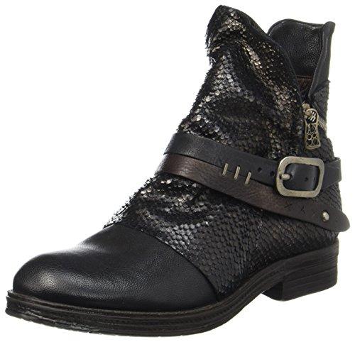 A.S.98 Damen Verti Biker Boots, Schwarz (Nero/Nero/Nero/TDM/Nero/Nero), 36 EU