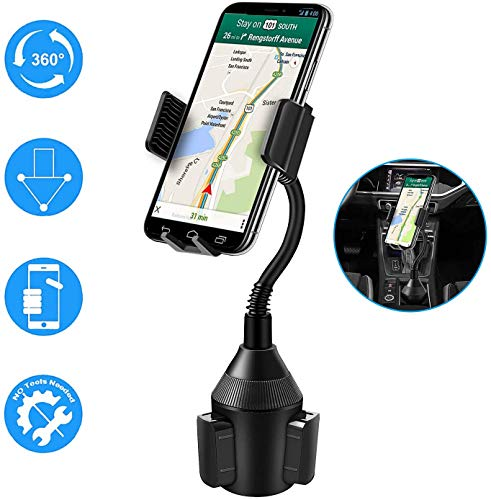 Vansky Car phone holder, Dashboard Windscreen Car Mount Cradle with A Long Flexible Neck for Cell Phones iPhone XR /11 Pro/11 Pro Max/XS/Max/X/8/7 Plus/Samsung Galaxy