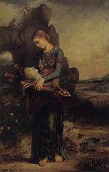 モロー作「オルフェの首を運ぶトラキアの娘」1865年