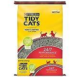 Purina Tidy Cats Non Clumping Cat Litter, 24/7 Performance Multi Cat Litter - 20 Lb