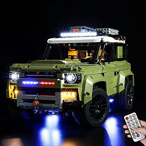 LODIY Luci Illuminazione Luce LED Light Kit per Lego 42110 Technic Land Rover Defender (Modello Lego Non Incluso) (con Telecomando)