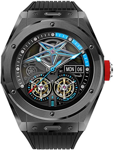 Reloj Inteligente Bluetooth Teléfono Llamadas Temperatura Cuerpo Monitor Paso Temperatura Fitness Tracker Pulsera Reloj Deportivo Inteligente Oro-Negro