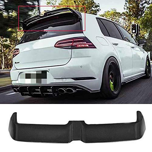 Premium ABS mit Carbon Faser Textur Design Auto Heckspoiler Spoiler für VW Golf 7 MK7 GTI & GTD & 7R 2013-2019, Automobil Heckscheibenfensterflügel Oben