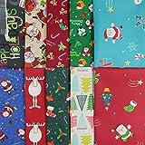 aufodara10 Stück Cotton Fabric Christmas Fabric Packages