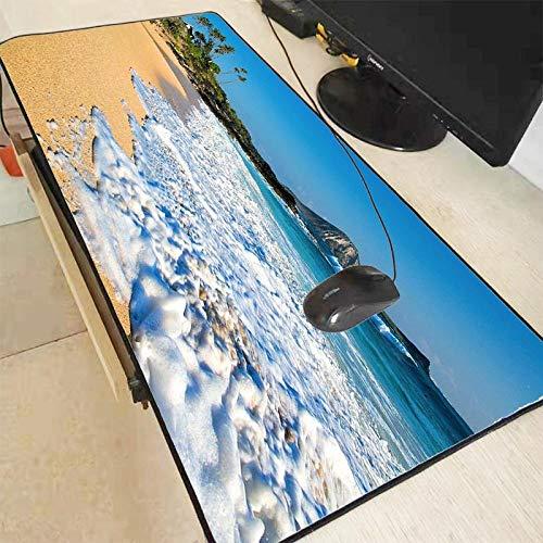 CFCYS Tapis De Souris De Jeu,Grand Art Seascape Gaming Lock Edge Tapis De Souris Clavier D'Ordinateur Portable Pad De Haute Qualité en Caoutchouc Table Tasse Pad,300X600X2Mm