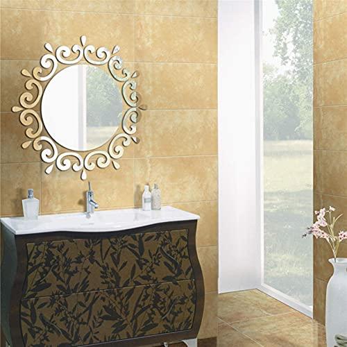 etiqueta de la pared mural decoración de la pared 2021 nuevas grandes pegatinas de pared 3D decoración acrílico moderno hogar gran espejo superficie patrón diy etiqueta de la pared real Moda (color: