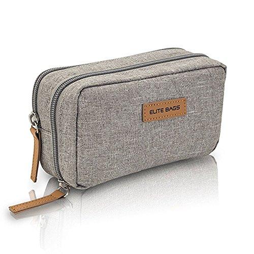 Elite Bags Diabetic´s Estuche para Diabéticos Isotérmico, Gel de Frío Incluído, Múltiples Compartimentos, Gris, 17 x 10 x 6 cm