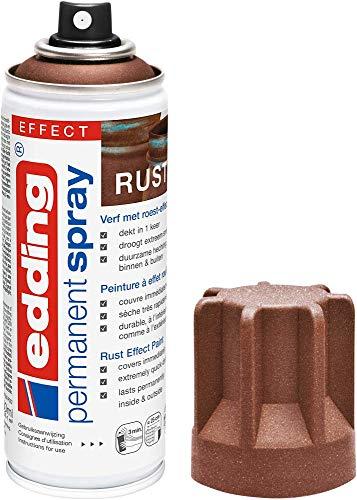edding 5200 - Spray permanent - Effet rouille mat - 200 ml - peinture à pulvériser acrylique pour peindre et décorer sur presque toutes les surfaces