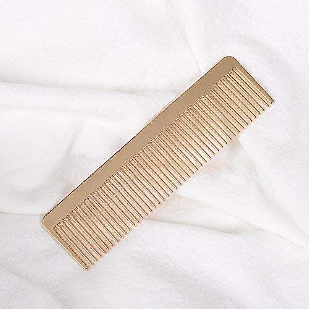 チケット曲線滴下Grtdrm Portable Metal Comb, Minimalist Pocket Golden Hair Comb for Women Men Unisex [並行輸入品]