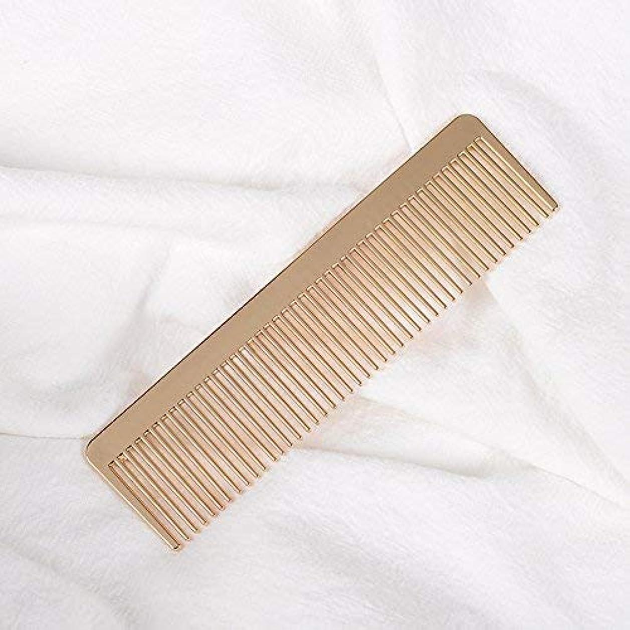 息苦しいパシフィック避難Grtdrm Portable Metal Comb, Minimalist Pocket Golden Hair Comb for Women Men Unisex [並行輸入品]