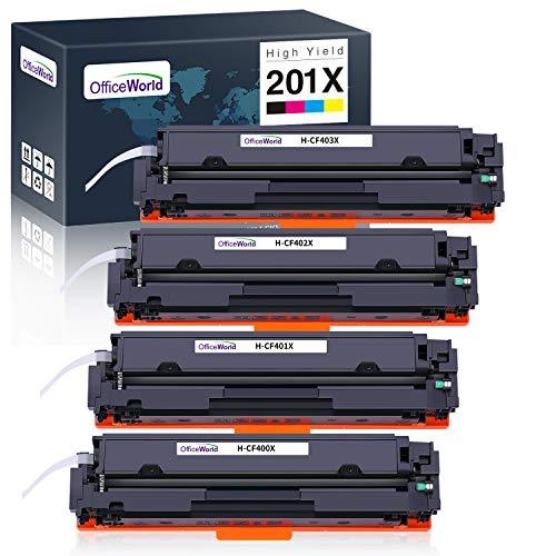 Remanufactured Toner Cartridge Replacement for Hp 201a Cf400a Cf401a Cf402a Cf403a Toner Cartridge for Use with Hp Color Laserjet Pro M252dw M252n MFP M277dw M277n Laser Printer-Cambination