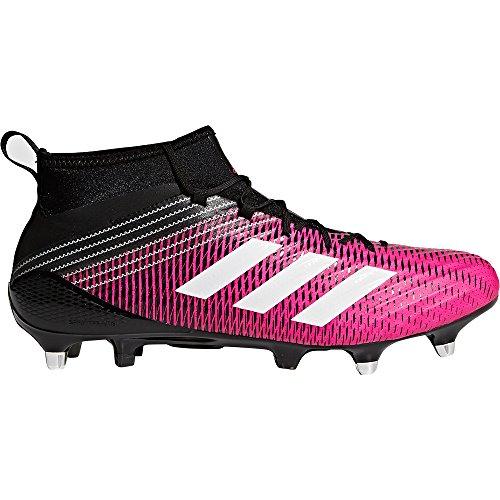 adidas Predator Flare SG, Botas de Rugby para Hombre, Rosa (Shopin/ftwwht/cblack Shopin/ftwwht/cblack), 43 1/3 EU
