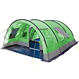 Skandika Kemi family Tunnel Tent with Moveable Front Wall, 2 Sleeping Cabins
