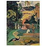 JUNIWORDS Poster, Paul Gauguin, Matamoe, Landschaft mit
