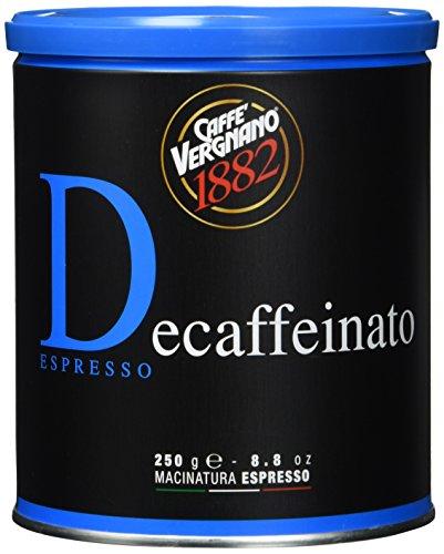 Caffè Vergnano 1882 Kaffee Dose 100% Arabica gemahlen Entkoffeiniert - 250 g-Packung