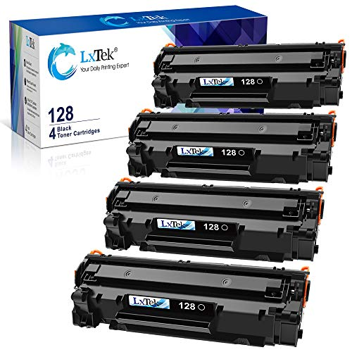 LxTek Compatible Toner Cartridge Replacement for Canon 128 CRG128 (Black, 4-Pack)