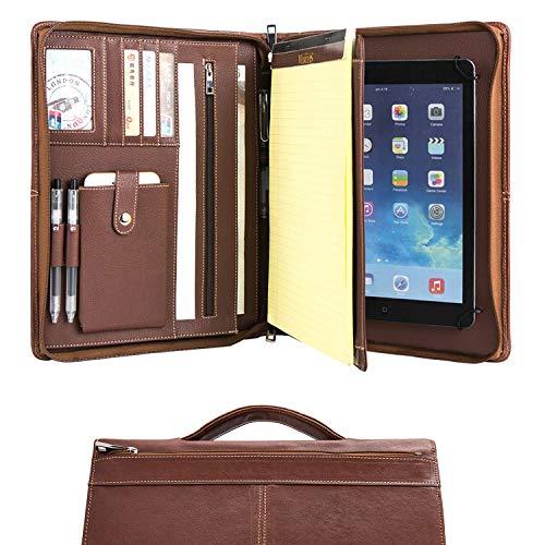 Cohokori Conférencier en cuir faite à la main à fermeture Éclair pour de iPad Pro 12.9(2018), Business...