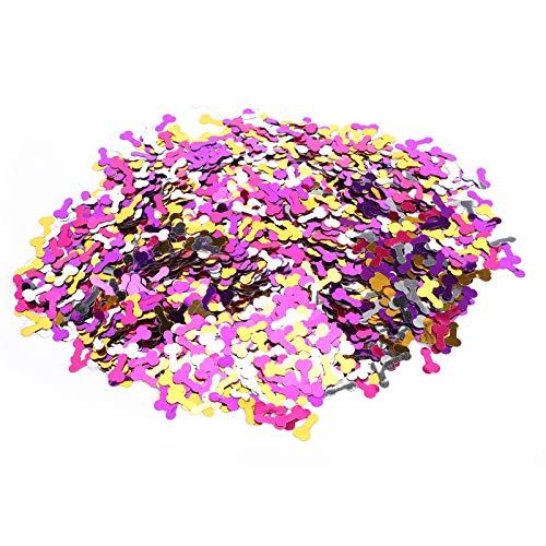Confeti de fiesta de soltero con bordes brillantes para decoración de festivales para bolsas de regalo