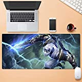 Tappetino XXL Per Mouse e PC Gaming Mouse Tappetino Mat League of Legends LOL Zed Il Maestro delle Ombre Filo d'tastiera Impact Mat Mousepad Computer Mouse Pad ( Color : 900mm*400mm , Size : 3mm )