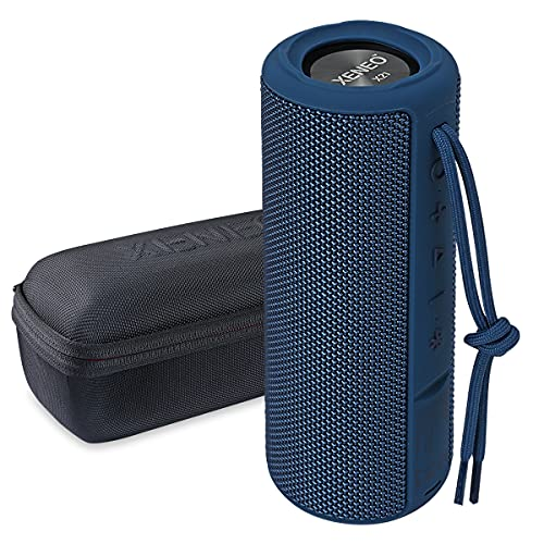 Xeneo X21 Portable Wireless Speaker Waterproof with FM Radio, Micro SD Card MP3 Player for Outdoor (Blue)