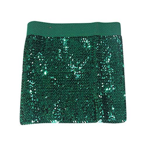 Posional Falda Lentejuelas Mujer Sexy Falda de Tubo para Fiesta Falda Lápiz Bodycon Cintura Alta Elegante Mini Falda Verano Casual Faldas Corta Elástica Minifalda Sequins Tutu Ballet Vestido