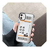New York Los Angeles Paris Tokyo City Label - Carcasa para iPhone X XS MAX 11 Pro XR 7 8 Plus funda para billetes de avión de viaje, Londres, para iPhone 7Plus
