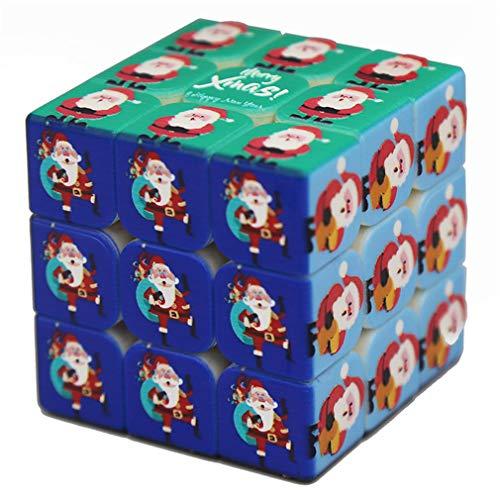 Cubo mágico Rompecabezas Regalo Creativo de la Navidad de Santa 3D Profesional de Alta dificultad Juguetes educativos Pegatinas 3 Orden de cuboides en Forma de edición Avanzada Juguetes Cubo Limitada