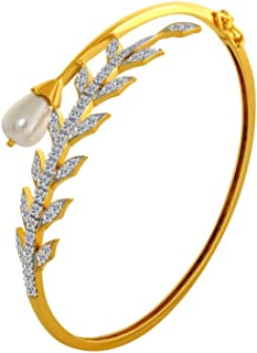 35ccd82d8d9 P.C. Chandra Jewellers 10KT Yellow Gold and American Diamond Bangle for  Women