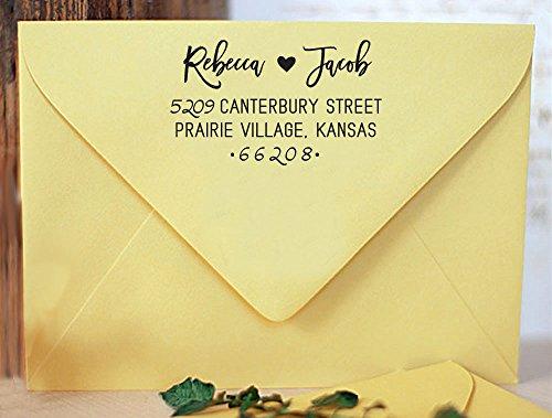 Hochzeit lädt Selbst Farbwerk für benutzerdefinierte Stempel Personalisierte Return Familie Adresse Briefmarken Vorschlag Ideen-Geschenk