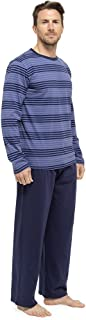 Mens Striped Long Sleeve Top & Pants Pyjama Lounge Wear
