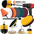 AAPOZZ Drill Brush Attachment Set - Power Scrubber with Additional Steel Wire and conical Brushes for Cars, Grill, Floor, Grout, Tiles, Sinks, Bathtub, Bathroom, Kitchen?Derusting