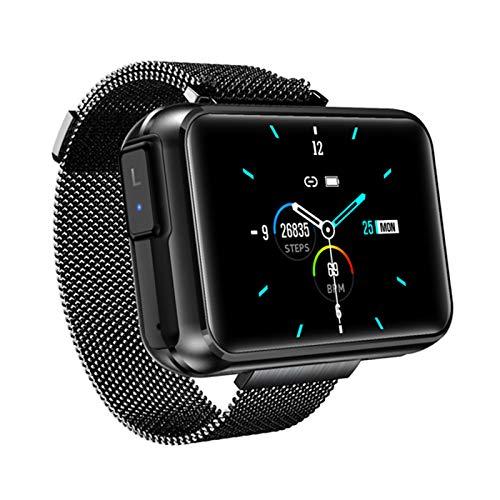 JXFF Smart Watch, T91 Pantalla De 1.4 Pulgadas con Auriculares Bluetooth Inalámbricos TWS, Tiempo De Llamada Bluetooth Tiempo Smartwatch (para Teléfonos iOS De Android),A