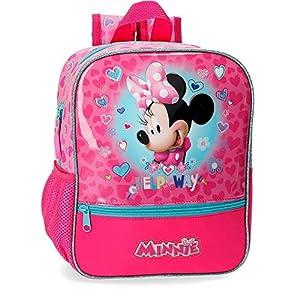 519hBzoiqGL. SS300  - Disney Mochila Minnie Help, Rosa, 23x28x10 cm