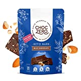 ChocZero's Keto Bark, Milk Chocolate Almonds, 100% Stone-Ground, No Added Sugar, Low Carb, No Sugar Alcohols, Non-GMO (6 bars)