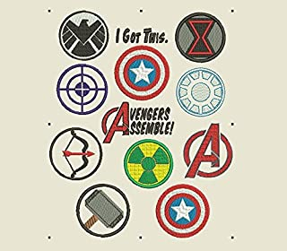 Best captain america shield embroidery design Reviews