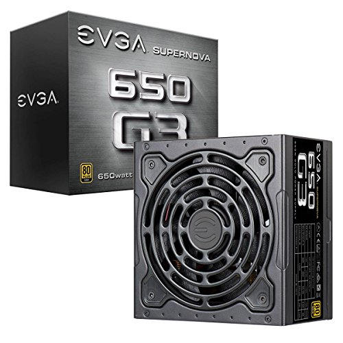 EVGA 220-G3-0650-Y2 SuperNOVA 650 G3, 80 Plus GOLD 650W, Completamente Modulare, Eco Mode Con Il Nuovo HDB Ventilatore, 7 Anni Garanzia, Include Power ON Self Tester, Compatto 150mm Misura