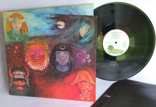 KING CRIMSON in the wake of poseiden. Greg Lake vocals, Robert Fripp guitars. Top copy. Second UK press, matrix A 4-U, on pink rim label, Island records, 1970.