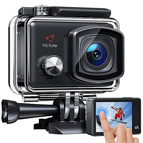 Victure AC900 4K Action Camera 20MP WiFi Touch Screen Camcorder EIS Waterproof 100FT(30M) Underwater Sports Cam with 2X1350mAh Rechargeable Batteries