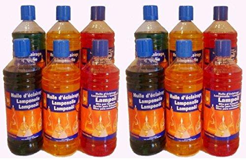 Huile de paraffine jaune / vert / rouge 12L (12 x 1L)
