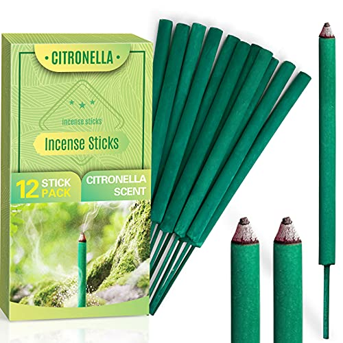 LA BELLEFÉE Outdoor Citronella Incense Sticks For Home, Kitchen, Outdoors, Bars, Office, Gift and more