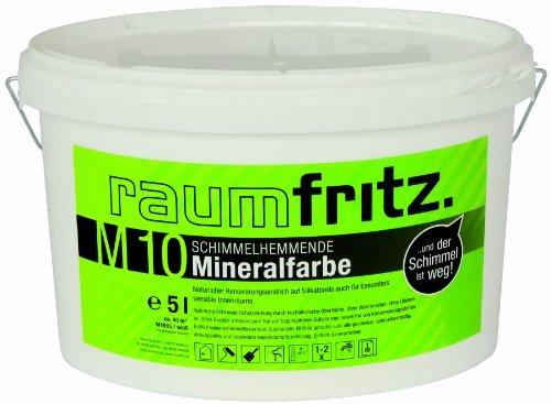 Raumfritz M10 Schimmelhemmende Mineralfarbe 5 Ltr Schimmelschutzfarbe auf Silikatbasis