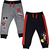 Disney Mickey Mouse Toddler Boys 2 Pack Pants 5T Black/Gray