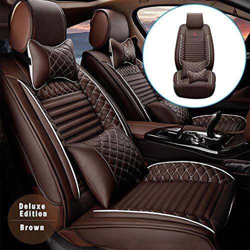 JYPZSH Funda De Asiento De Coche Universal para Nissan Bluebird Sylphy G11Bluebird Rogue Rogue Sport Navara Np300 Versa GTR 350Z Auto Accesorios-Marrón