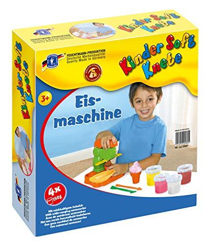 Feuchtmann Spielwaren 6280580 - Kinder Soft Knete Eismaschine mit Knete, Eisbecher- und waffel sowie Modellierwerkzeugen