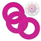 MySweetStitch | Freestyle Libre 1 & 2 parches impermeables, transpirables y respetuosos con la piel incl. pegatina con agujero para sensor en conjunto (3+1) Mandala Alrededor